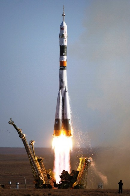 NASA is currently dependent on Russia for flights to the International Space Station using the Soyuz rocket. Photo Credit: NASA