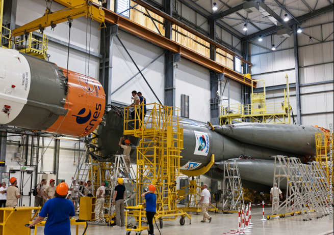 Tomorrow's launch will mark the seventh time one  of the venerable boosters has taken off from Kourou, French Guiana. Photo Credit: Arianespace