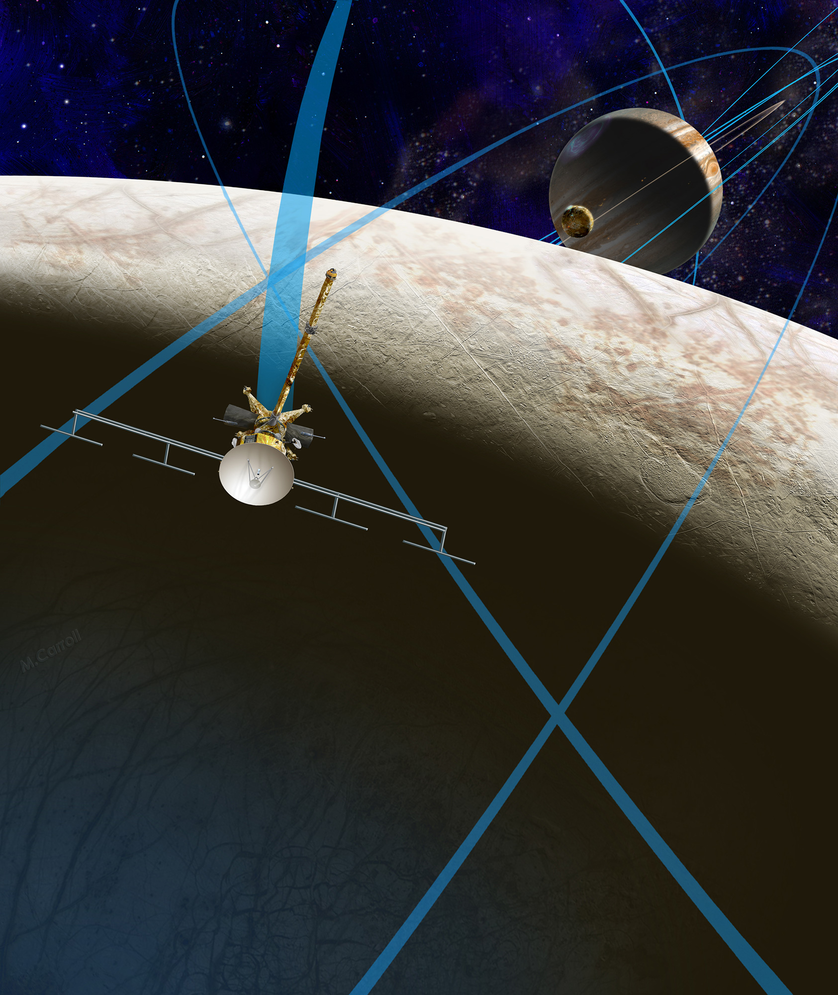 Illustration of the Europa Clipper mission concept.