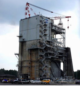Test Stand A1 at NASA's Stennis Space Center in Mississippi. Photo Credit: Jason Rhian / SpaceFlight Insider