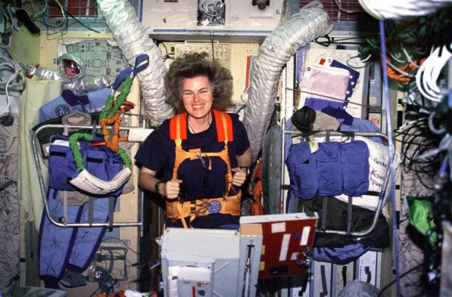 Ross was pleased when he found out that he would be inducted into the Astronaut Hall of Fame alongside his close friend and fellow astronaut Shannon Lucid. Photo Credit: NASA