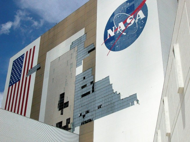 NASA structures have been damaged in the past by hurricanes. Hurricane Ivan, which struck in 2004, damaged not only the VAB, but other structures as well. Photo Credit: NASA