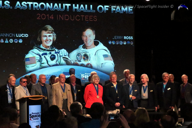 Lucid and Ross shortly after being inducted into the U.S. Astronaut Hall of Fame. Photo Credit: Carleton Bailie / SpaceFlight Insider