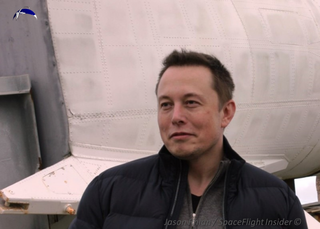 SpaceX's Founder and CEO, Elon Musk, has posted some tweets which question the ethics involved behind the hiring of a former Air Force official. Photo Credit: Jason Rhian / SpaceFlight Insider