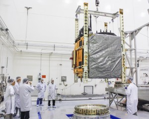 GPS IIf-6 satellite during assembly. Photo Credit: Boeing