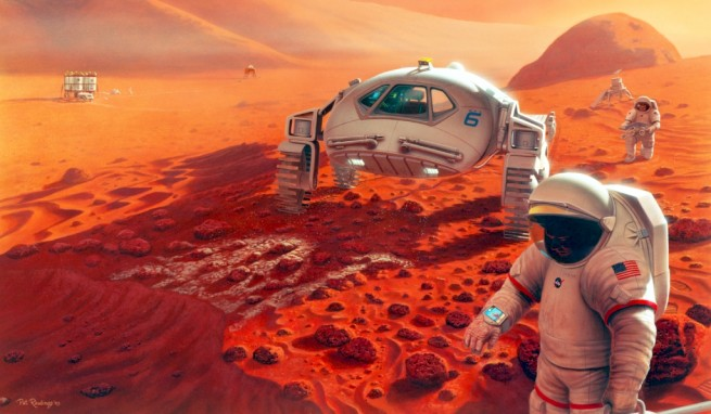 Studies by NASA's Human Research Program and the NSBRI may help protect the health of astronauts on future missions to Mars. Image Credit: NASA