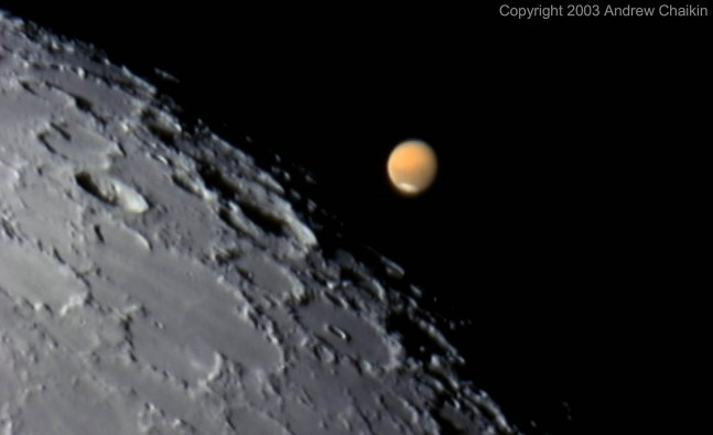 To shoot straight for Mars ignores the potential of the Moon, but once we return to the Moon we can still go on to Mars. Photo Credit: Andrew Chaikin