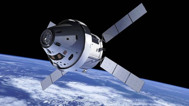 Artist's conception of the Orion spacecraft including the service module. Image Credit: NASA