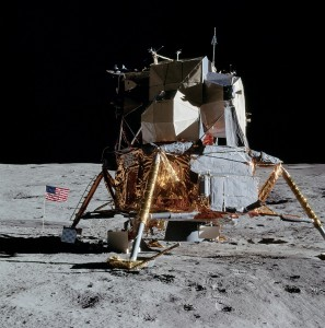 The Apollo lunar modules carried astronauts, experiments, and tools, and some even carried the battery-powered rover. Future lunar modules could carry inflatable habs and 3D printers to construct a low-cost Moon base. Photo Credit: NASA