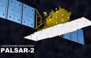 Artist conception of the PALSAR-2 instrument on board the Daichi-2. Image Credit: JAXA