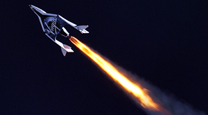 Virgin Galactic's SpaceShipTwo. Photo Credit: Clay Center Observatory