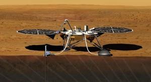 Artist's conception of the InSight Lander on Mars. Photo Credit: NASA/JPL-CalTech