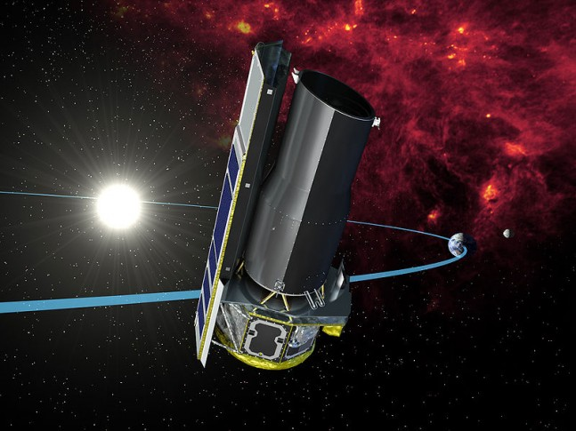 An artist's concept of the Spitzer space telescope. Image Credit: NASA/JPL-Caltech