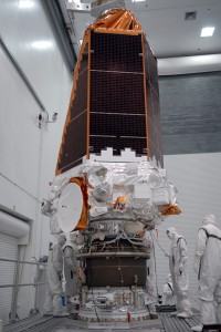 Kepler space telescope shortly after the assembly tho the third stage of its Delta II 7925. Photo Credit: Troy Cryder/NASA