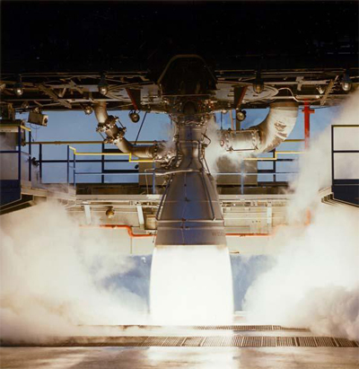 Aerojet Rocketdyne's AJ-26 engine during a test fire. Photo Credit: Aerojet Rocketdyne