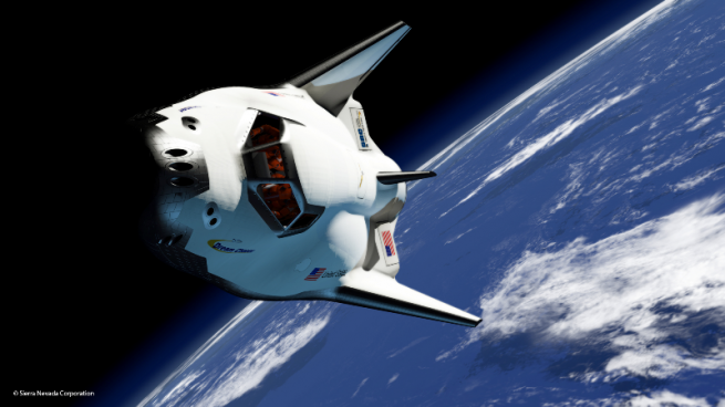 Of all the entries in NASA's Commercial Crew Program - only Dream Chaser is a shuttle-based design. Image Credit: SNC