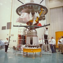 Pioneer 10 arrives at Kennedy Space Center Photo Credit: NASA