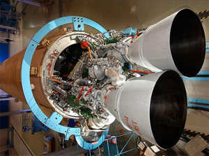 The RD-180 rocket engine is built by the Russian company NPO Energomash. Photo Credit: NASA