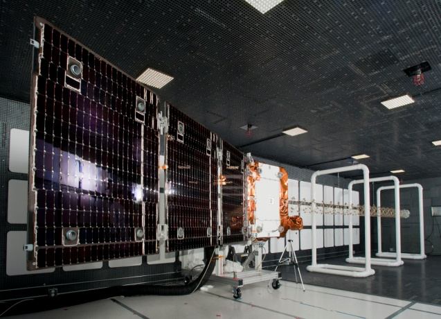 An Orbcomm OG2 satellite. Photo Credit: Sierra Nevada Corporation