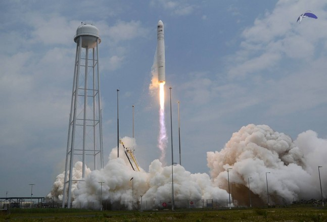 Antares lifts off from NASA's Wallops Flight Facility's Pad 0A at the Mid-Atlantic Regional Spaceport on July 13, 2014 at 12:52 p.m. EDT (1652 GMT). Photo Credit: Elliot Severn / SpaceFlight Insider