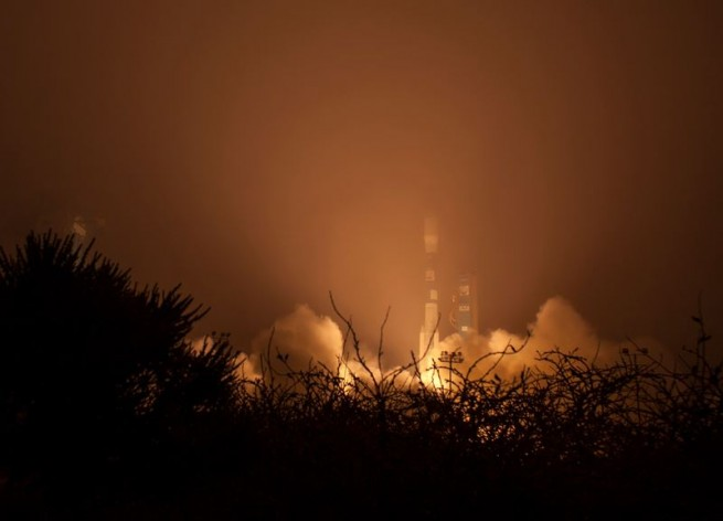 "Most ""viewers"" never even saw the rocket leave the pad due to the thick fog which blanketed the region. Photo Credit: Bill Ingalls / NASA"