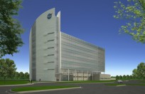 Image above: An artist rendering of the new headquarters building for NASA's Kennedy Space Center. Image Credit: NASA