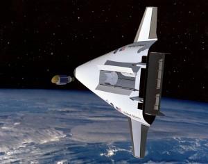 Simulated image of VentureStar in orbit. Image Credit: NASA