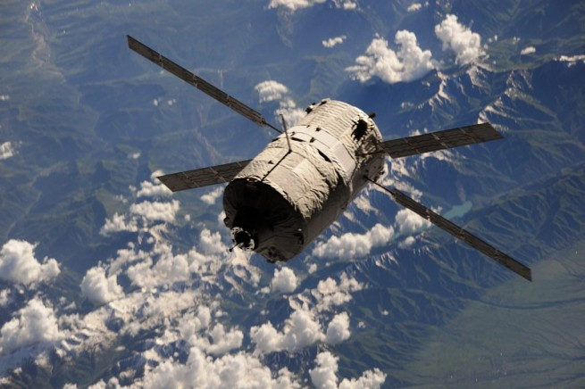 An Automated Transfer Vehicle approaches the International Space Station. Photo Credit: NASA