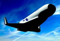 Artist's illustration of the XS-1 spaceplane returning from a mission. Image Credit: Boeing / DARPA