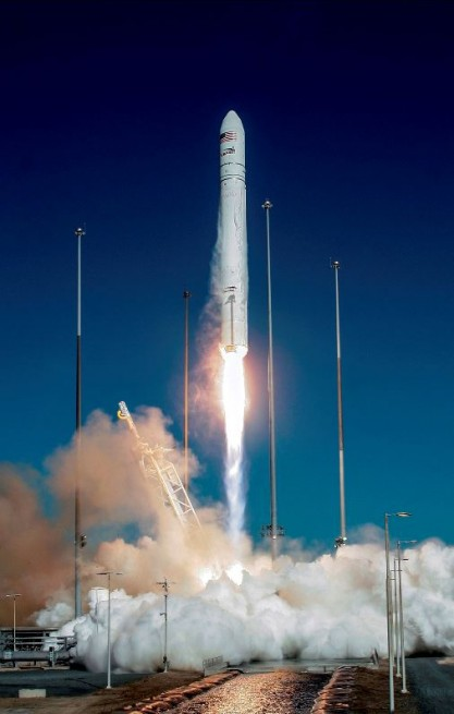 ORB-1 launches from the Mid-Atlantic Regional Spaceport (MARS). Photo Credit: Orbital Sciences Corp.