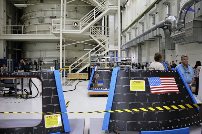 The Neil Armstrong Operations & Checkout Facility is currently being used to process the Orion spacecraft. Photo Credit: Jason Rhian / SpaceFlight Insider