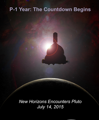 NASA posted marking that the New Horizons spacecraft is within a year of its primary target. Image Credit: NASA