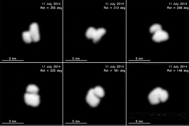 New images show that Rosetta's target comet, 67P/Churyumov–Gerasimenko, has a nucleus consisting of two components.