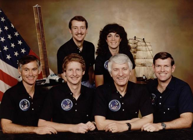 Commander Hank Hartsfield and his STS-41D crew. Photo Credit: NASA