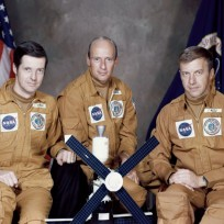 Skylab's Second Crew:  L to R: Joe Kerwin, science pilot; Pete Conrad, commander; and Paul  Weitz, pilot. Photo Credit: NASA