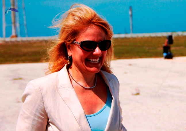 SpaceX COO and President Gwynne Shotwell NASA Kennedy Space Center KSC Launch Complex 39A photo credit Michael Seeley SpaceFlight Insider