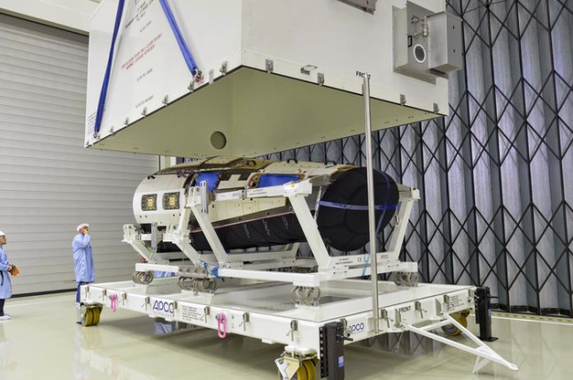 unboxing the IXV plane as seen on Spaceflight Insider
