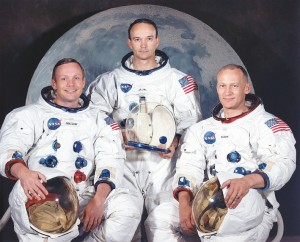 L to R: Neil A. Armstrong, Michael Collins, and Edwin E. Aldrin Jr. Photo Credit: NASA