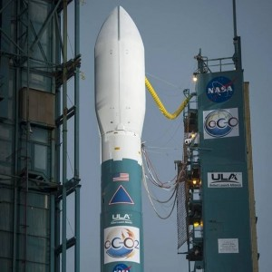NASA's OCO-2 satellite sits in its fairing on the Delta II. Photo Credit: Bill Ingalls / NASA
