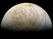 Europa may be the best place in the solar system to look for environments where life could exist. Image Credit: NASA/JPL-Caltech/Ted Stryk