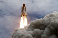 Space shuttle Discovery thunders off of Launch Complex 39A at NASA's Kennedy Space Center in Florida. Photo Credit: NASA