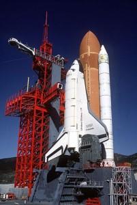 Space Shuttle Enterprise sitting at SLC-6 at California's Vandenberg Air Force Base. Photo Credit: NASA