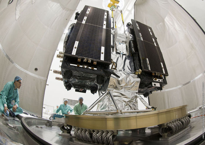 The primary components of the Galileo spacecraft were constructed by OHB, located in Germany. Photo Credit: ESA / Arianespace