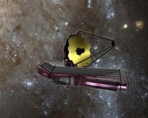 Artist's concept of JWST after deployment . Image Credit: NAS/ESA