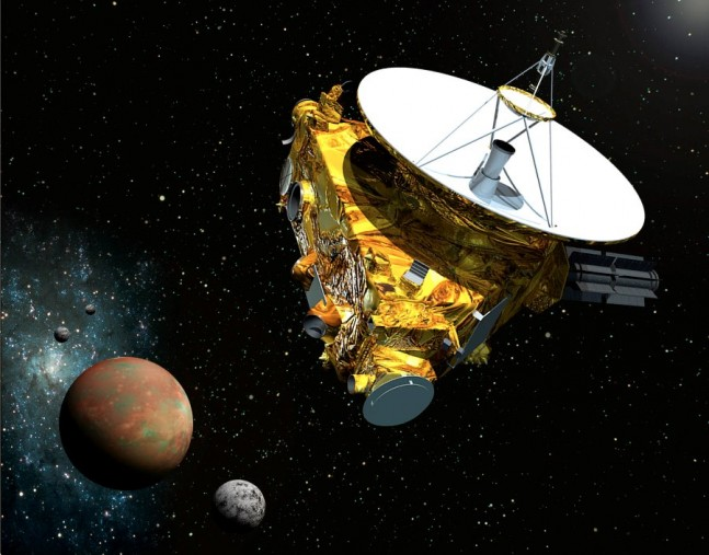 Artist's rendering of the New Horizons spacecraft on its way to the Kuiper Belt. Image Credit: Johns Hopkins/Applied Physics Laboratory