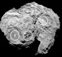 Five possible landing sites have been identified for Rosetta's Philae lander. Image Credit: NASA
