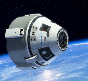 Boeing's CST-100, depicted in orbit above the Earth. Image Credit: Boeing