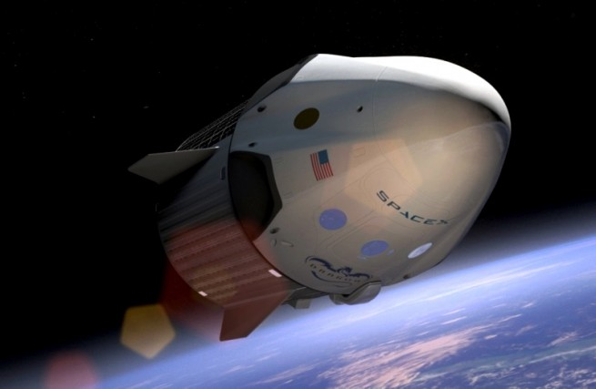 Dragon V2 in orbit above Earth. Photo Credit: SpaceX