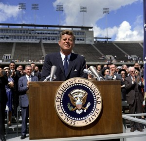 """We choose to go to the Moon and do the other things, not because they are easy, but because they are hard!"" John F. Kennedy at Rice University on September 12, 1962. Photo Credit: NASA"