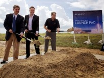 SpaceX's CEO and Founder, Elon Musk (center), Texas Governor Rick Perry and other officials joined numerous others in celebrating the opening of SpaceX's newest launch facility. Photo Credit: Governor.State.Texas.US